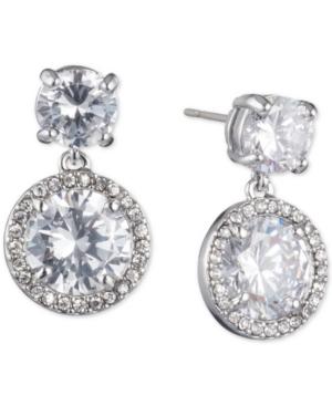Givenchy Silver-tone Cubic Zirconia Drop Earrings