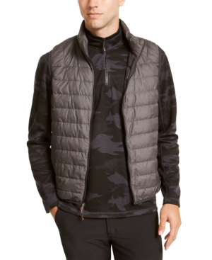Hawke & Co. Outfitter Men's Packable Down Blend Puffer Vest In Dark Heather Grey