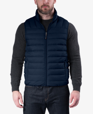 Hawke & Co. Outfitter Men's Packable Down Blend Puffer Vest In Hawke Navy