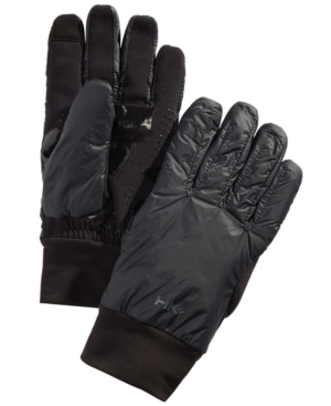 Hawke & Co. Outfitter Men's Midweight Mix-media Gloves, Created For Macy's In Black