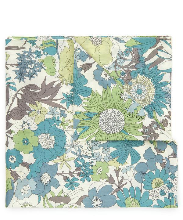Liberty London Sixty Cotton Handkerchief In Green