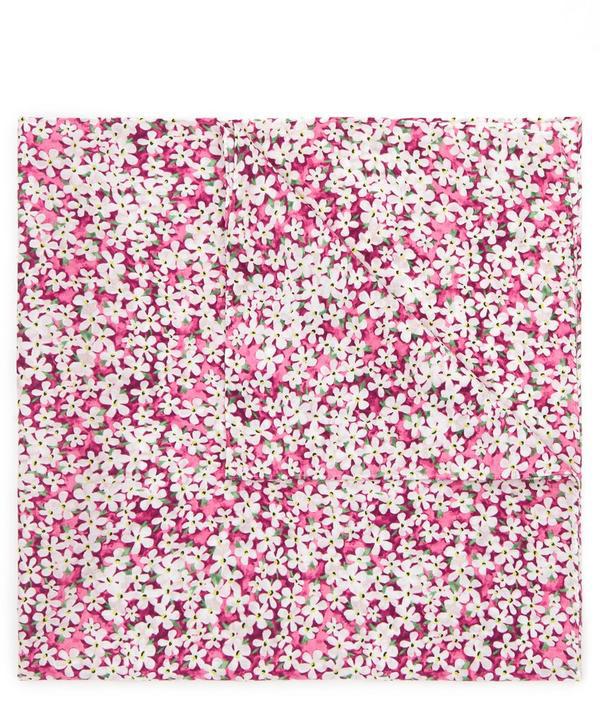 Liberty London Petal Wish Cotton Handkerchief In Pink