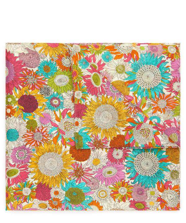 Liberty London Small Susanna Silk-cotton Handkerchief In Yellow