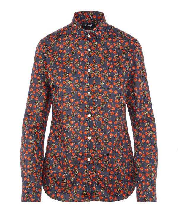 Liberty London Ros Classic Shirt In Blue