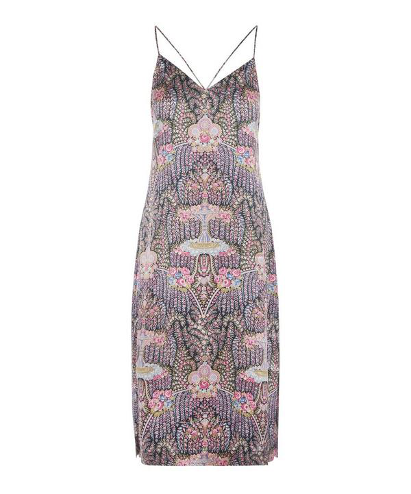 Liberty London Seraphina Silk Charmeuse Chemise In Navy