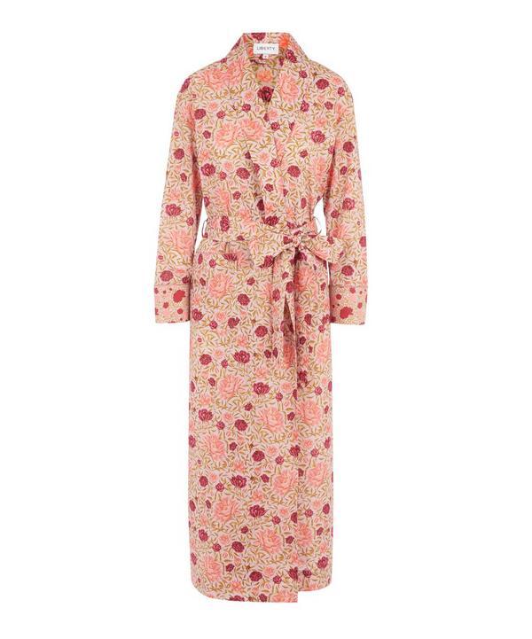 Liberty London Carla And Dana Tana Lawn' Cotton Robe In Pink