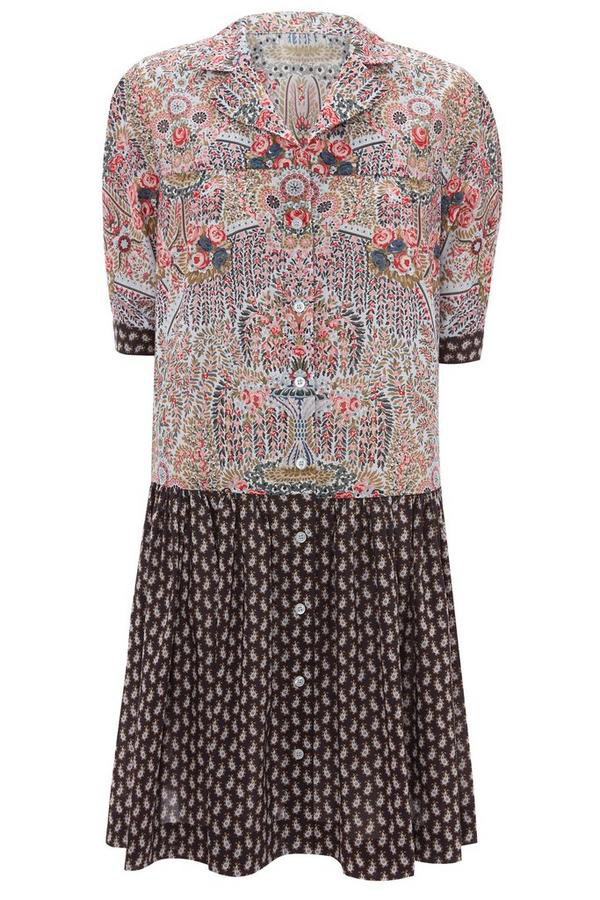 Liberty London Seraphina Tana Lawn' Cotton Tunic Dress In Blue