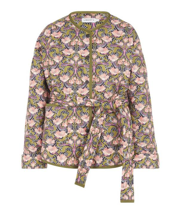 Liberty London Alicia Quilted Jacket In Blue