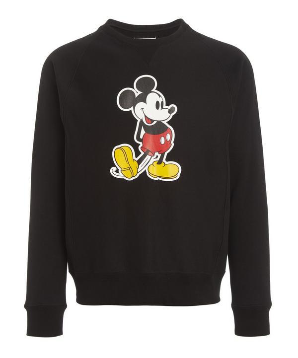 The Soloist Mickey Mouse Crew-neck Sweatshirt In Black