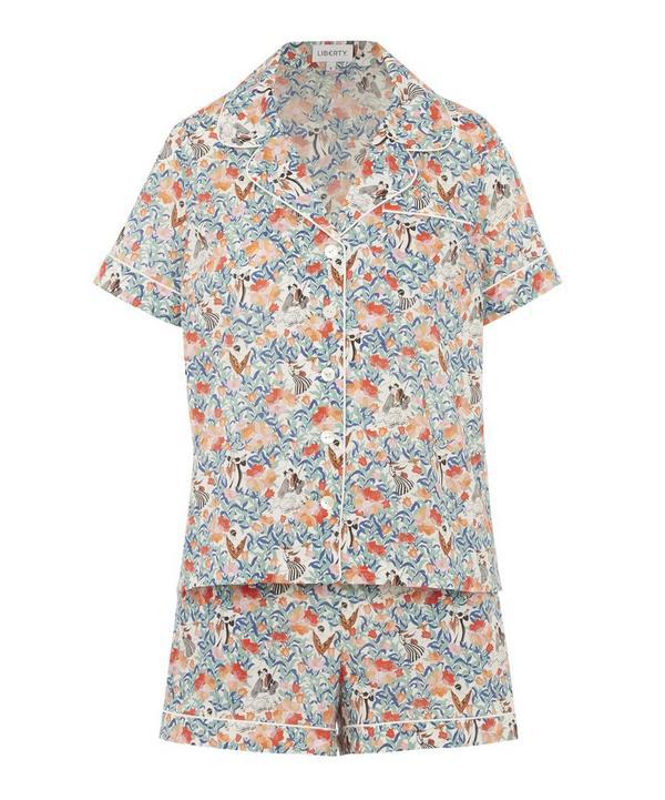 Liberty London Everyday People Tana Lawn' Cotton Short Pyjama Set In White
