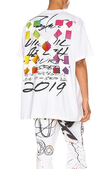 Off-white Oversize Futura Alien Jersey T-shirt In White