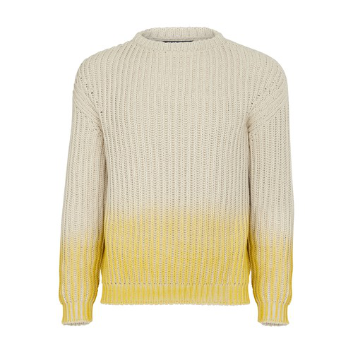 Jacquemus Gradient Chunky Knit Jumper In Neutrals