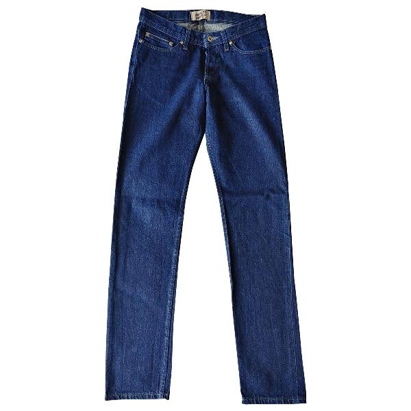 Naked & Famous Blue Cotton Jeans