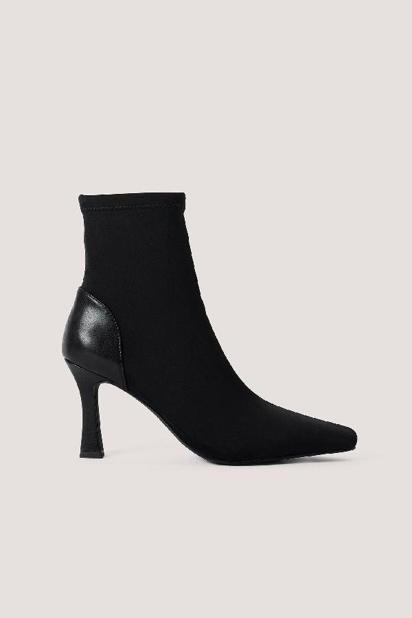 Chloé B X Na-kd Square Front Boots Black