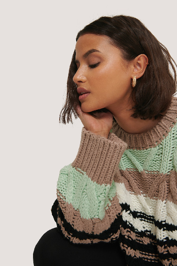 ChloÉ B X Na-kd Chunky Knitted Sweater Multicolor
