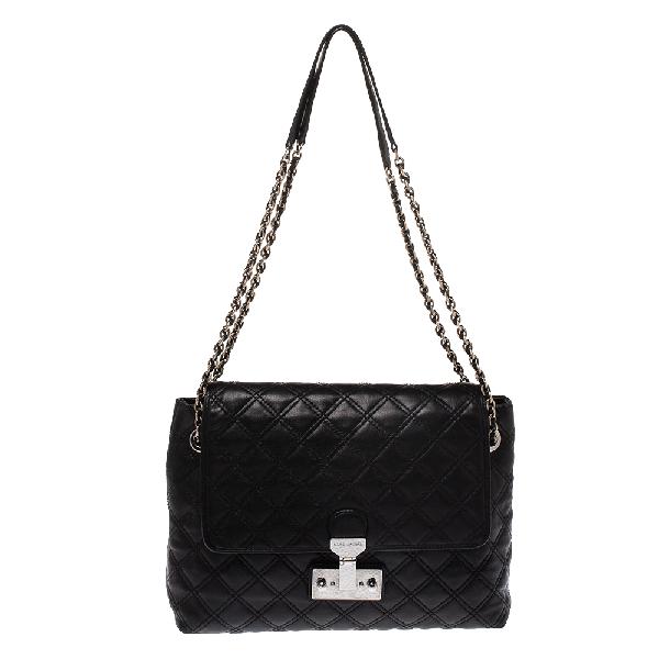 Marc Jacobs Black Quilted Leather Shoulder Bag