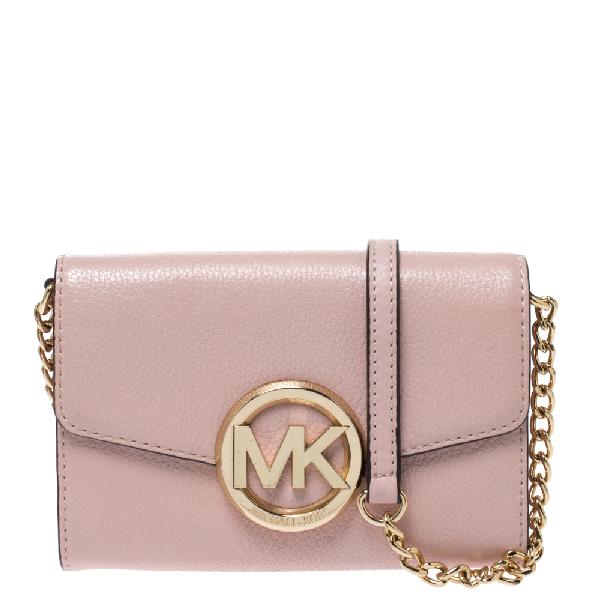 Michael Kors Pink Leather Crossbody Bag