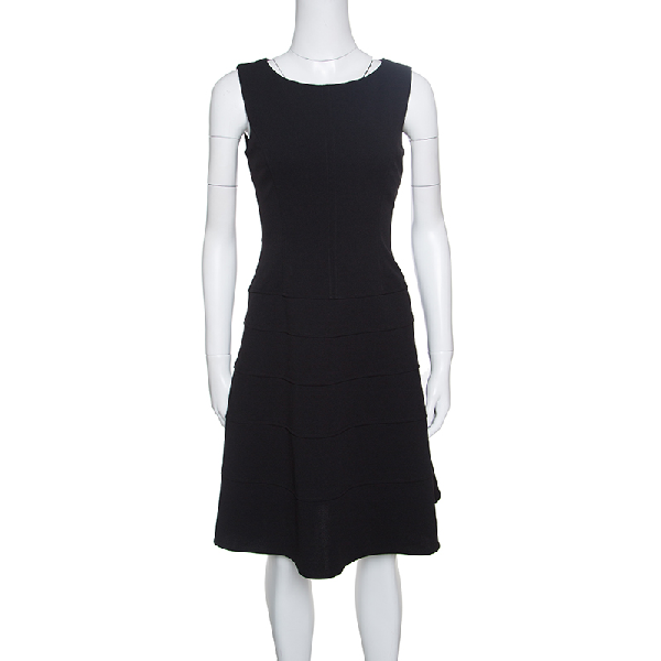 Tommy Hilfiger Black Sleeveless Paneled A- Line Dress S