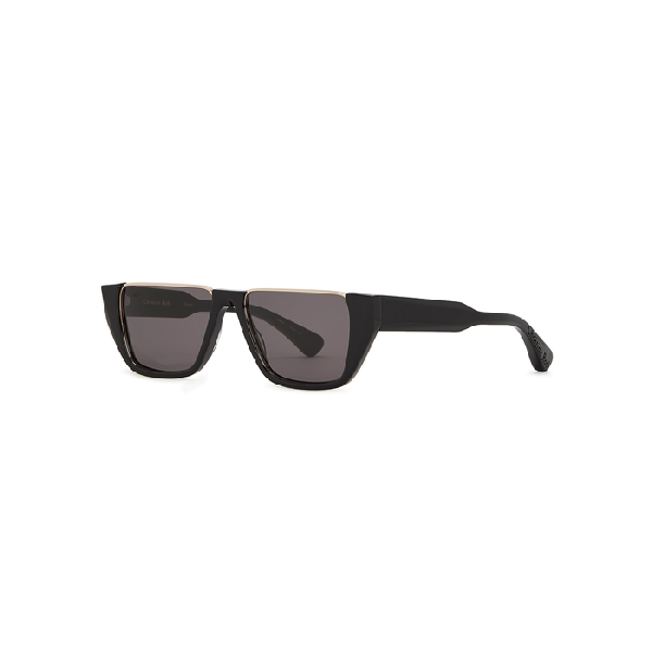 Christian Roth Cr-401 White Cut-out Sunglasses In Black