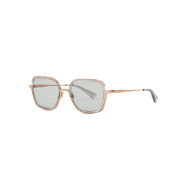 Christian Roth Cr-101 Gold-tone Square-frame Sunglasses In Crystal