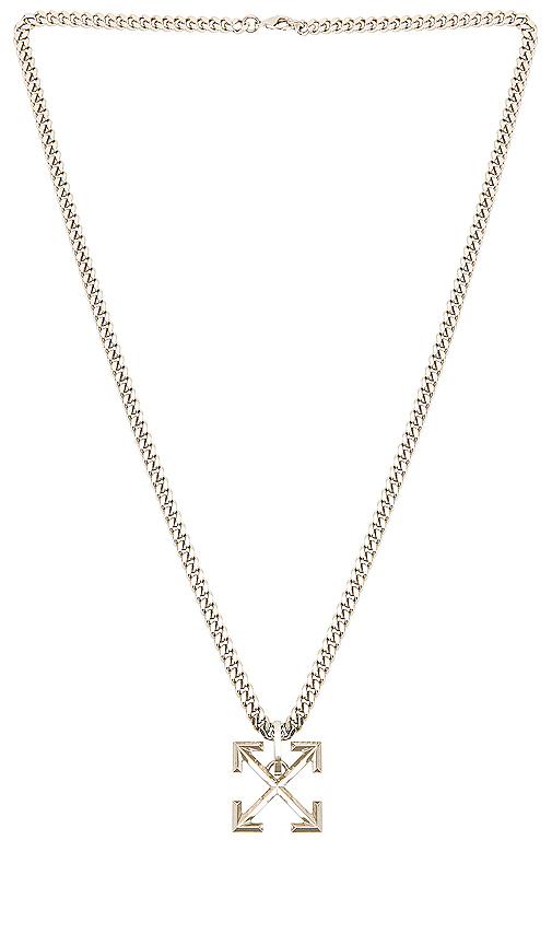 Off-white Halskette Mit PfeilanhÄnger In 9100 Silver
