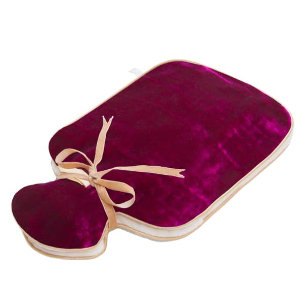 Holistic Silk Silk Velvet Hot Water Bottle Pink In Purple