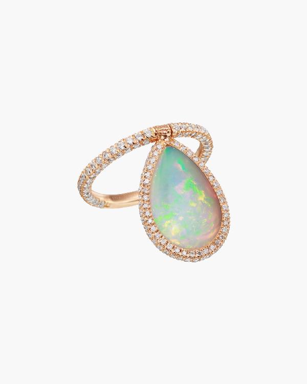 Nina Runsdorf Large Opal Flip Ring