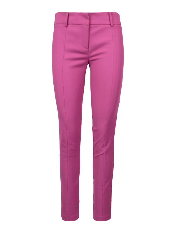 Patrizia Pepe Cotton Blend Trousers In Pink