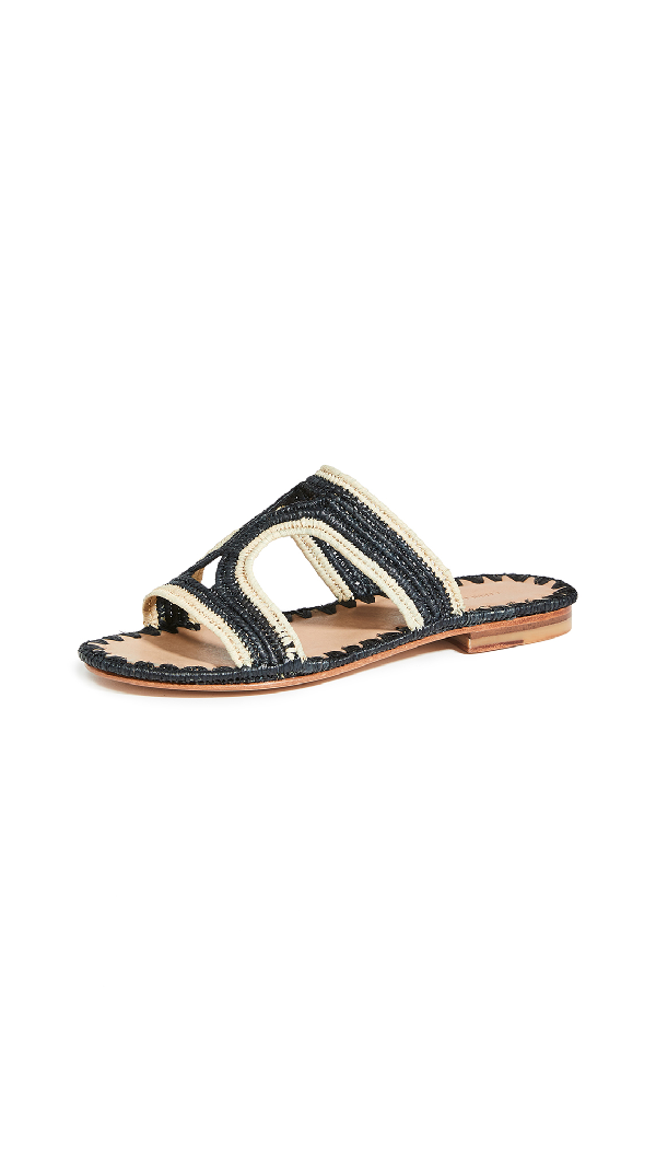 Carrie Forbes Moha Slides In Noir/natural Trim