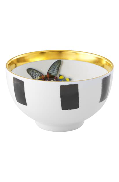Christian Lacroix Sol Y Sombra Rice Bowl In Black And White