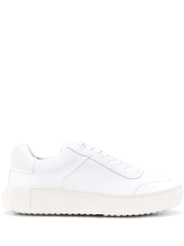 Primury Low-top Leather Sneakers In White