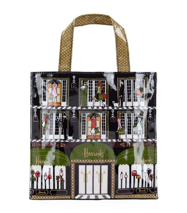 Harrods Elevators Small Shopper Bag
