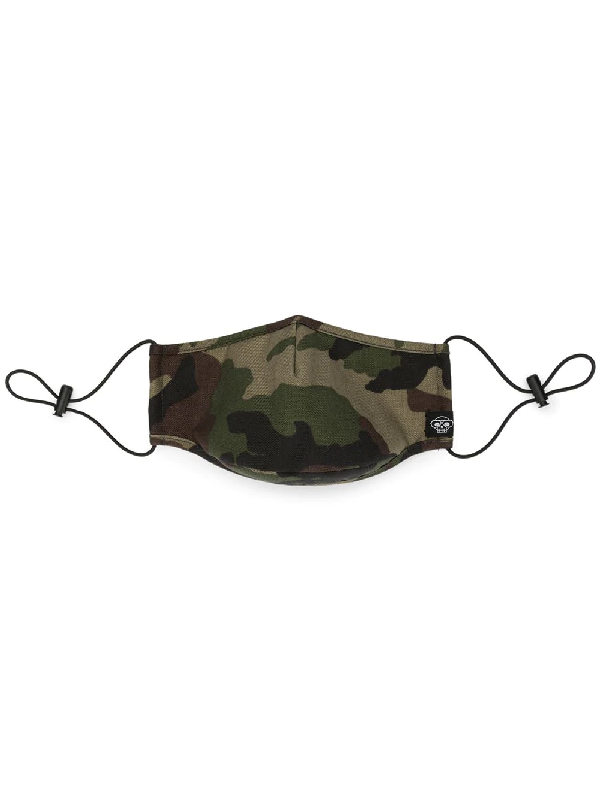 Mostly Heard Rarely Seen Camouflage Print Face Mask In Brown
