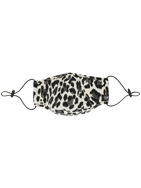 Mostly Heard Rarely Seen Cheetah Print Face Mask In Black