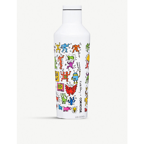 Corkcicle Keith Haring X  Pop Party Stainless-steel Canteen 475ml