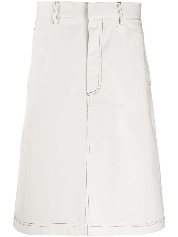 Xander Zhou Knee-length Skirt In White
