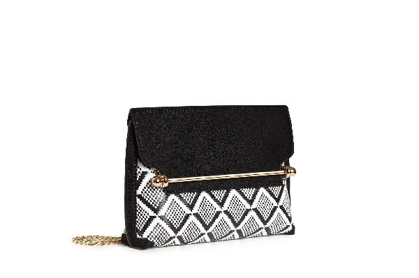 Ss20 Stylist Mini In Monochrome Weave Black/vanilla
