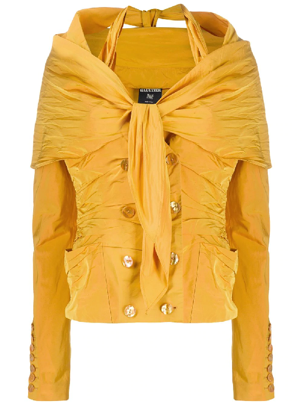Jean Paul Gaultier Layered Long-sleeved Shirt In Yellow