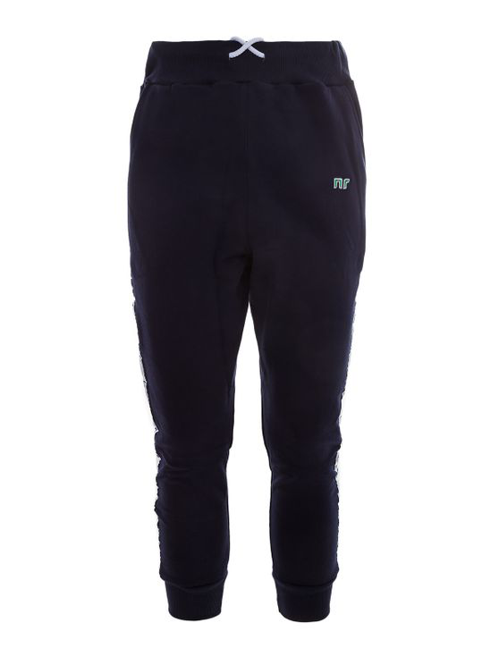 Nr Track Pants With Side Bands In Blue