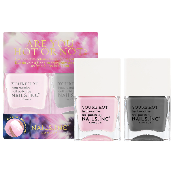 Nails Inc. Color Changing Nail Polish Duo- Are You Hot Or Not 0.47 oz/ 14ml