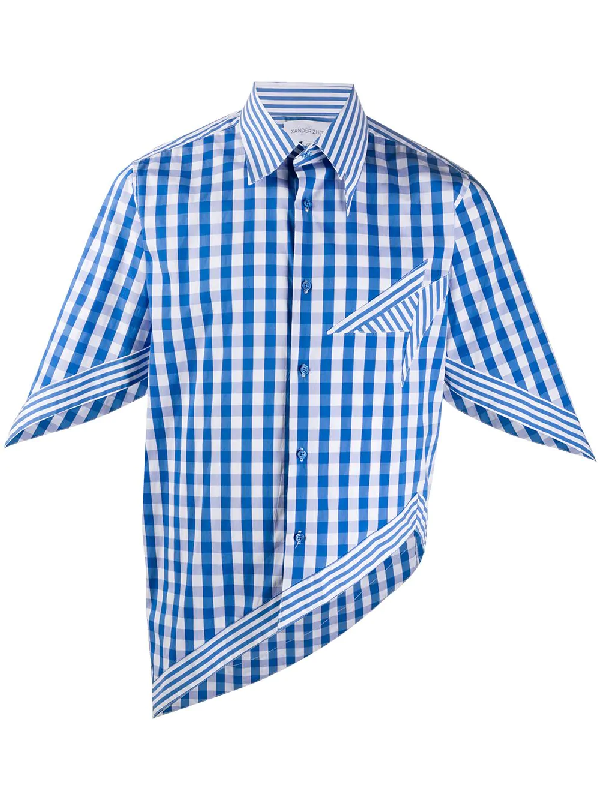Xander Zhou Asymmetric Hem Shirt In Blue