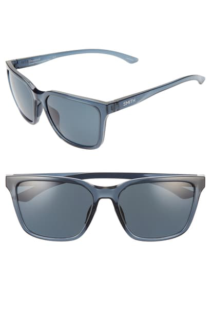 Smith Shoutout 57mm Chromapop(tm) Polarized Square Sunglasses In Crystal Mediterranean/ Black
