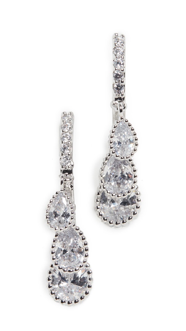 Theia Jewelry Cascading Dew Drop Earrings In White Gold