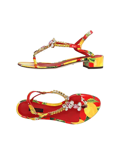 Dolce & Gabbana Flip Flops In Yellow