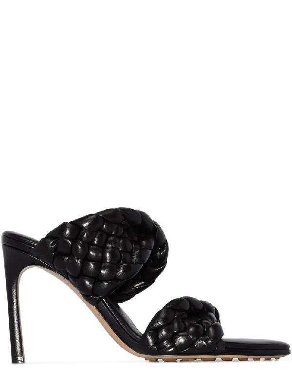 Bottega Veneta Black Bv Curve 95 Leather Sandals