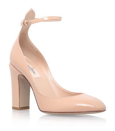 Valentino Garavani Tan Go Patent Court 100 In Pink