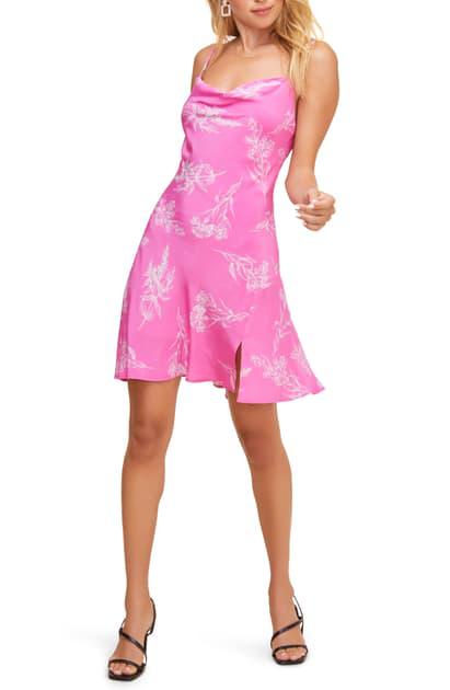Astr Dancing Queen Minidress In Azalea Pink Floral