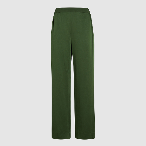 Bouguessa Green Wide Leg Crepe Trousers Size L