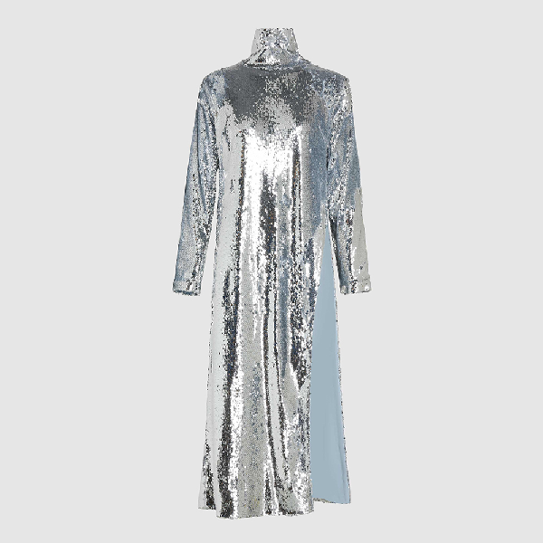 Bouguessa Metallic Sequined Long Sleeve Tunic Size S