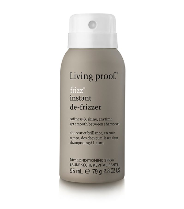 Living Proof No Frizz Instant De-frizzer Spray Travel Size In White